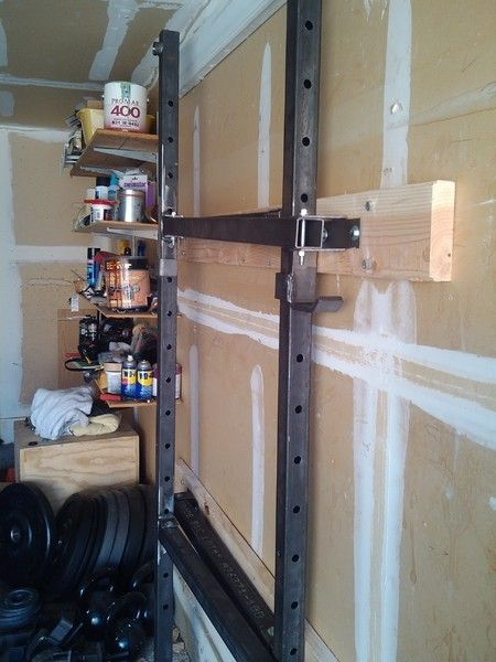 W wall mounted squat rack with pull up bar collapsible