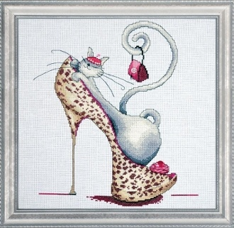 Fashionista Cat - Design Works counted cross stitch picture kit