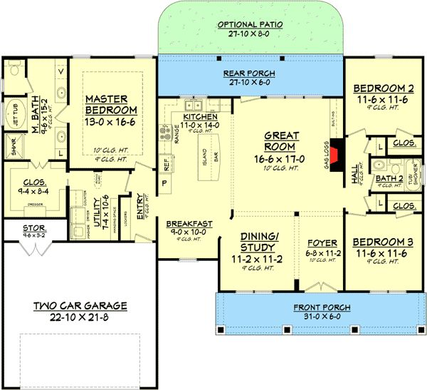 Best Empty Nester House Plan Ideas Images On Pinterest - House designs with master bedroom at rear