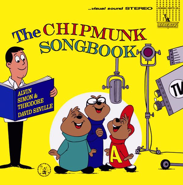 """THE CHIPMUNK SONGBOOK Liberty Records (Mono LRP-3229 Stereo LST-7229 / 12"""" 33 1/3 RPM LP / 1962) CD Reissue: Cema Special Markets 7-2438-19043-2-9  Available as an iTunes download and amazon download"""
