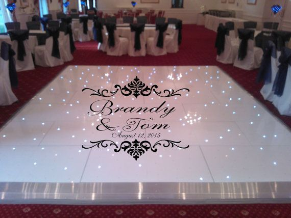 Huge damask theme dance floor decal wedding day by wallstory