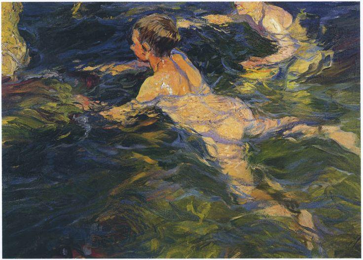 Swimmers, Javea, 1905.  Joaquín Sorolla - WikiArt.org