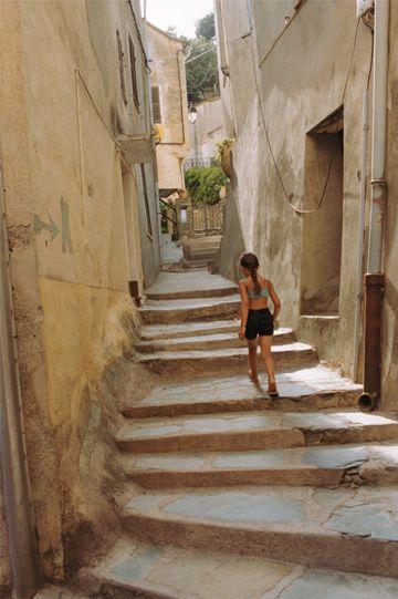 walkway in Corsica