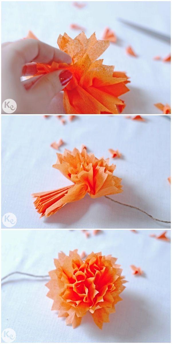 DIY. Crepe paper flowers