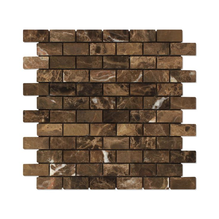 Sample Copper Mix Emperador Dark Marble Subway Mosaic: 17 Best Ideas About Tumbled Marble Tile On Pinterest
