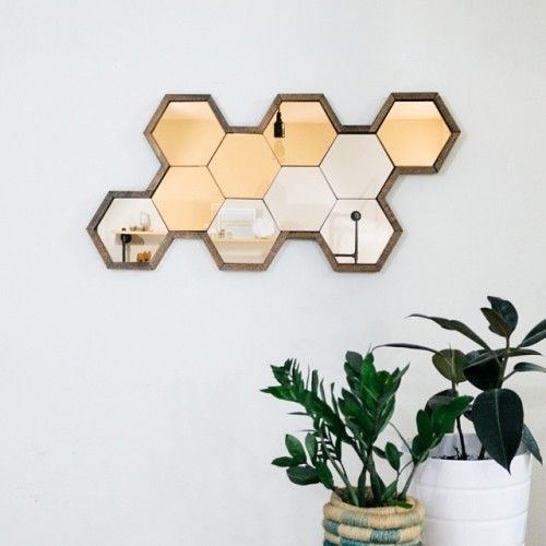 Hexagon Mirror To Hang Pinterest The White Hexagons