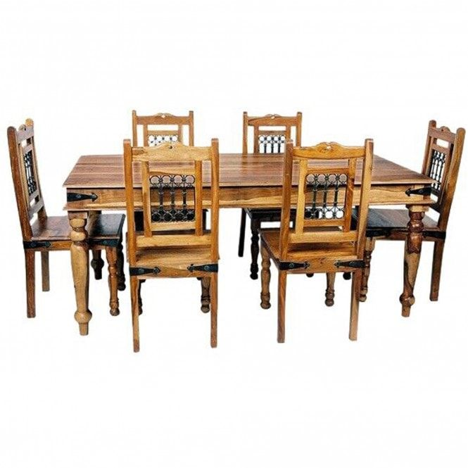 Jali Large Dining Table Dining Table Sheesham Wood Furniture