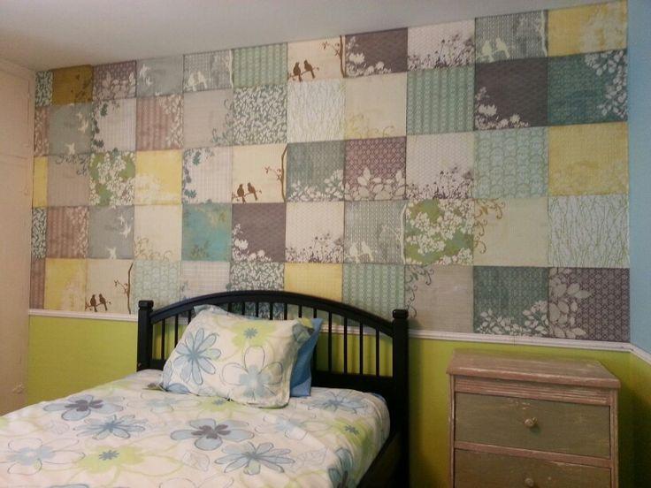 Wallpaper with scrapbook paper