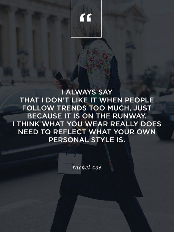 wise words from our EIC @rachelzoe