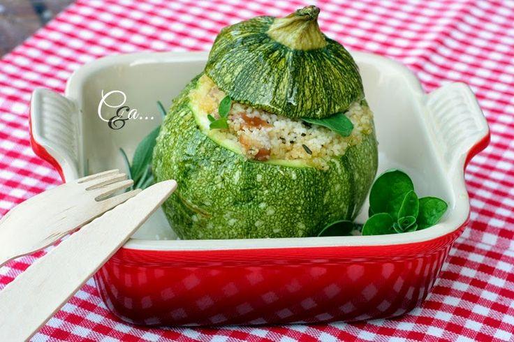 Cucinando e assaggiando...: Zucchine tonde ripiene di cous cous e...