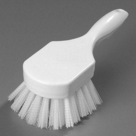 "Carlisle 8"" White Hand Scrub Brush (40541-02)"