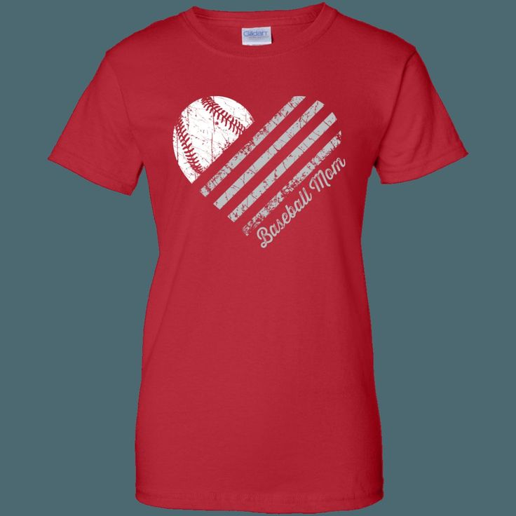 Heart Flag - Baseball - Women's Relaxed Fit
