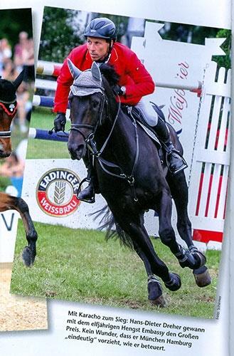 Veröffentlichungen in BayernsPferde: Siegerpferd auf dem Weg zum letzten Hindernis: The Away, On The, Way To