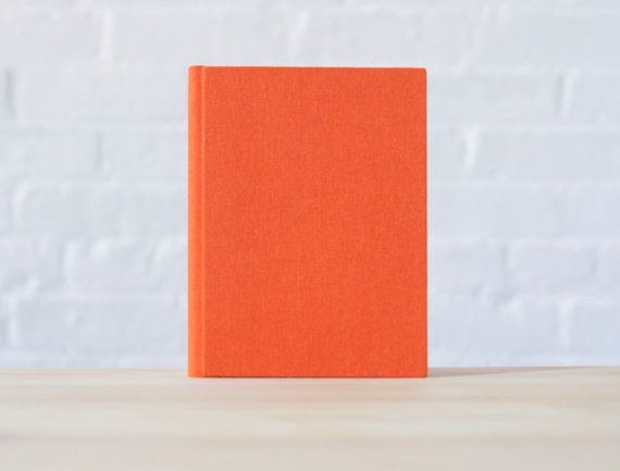 Small Bright Orange Bookcloth Hardcover Notebook  by knotbooks