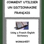 Using a French English Dictionary - Worksheet by French Teacher Canada | Teachers Pay Teachers