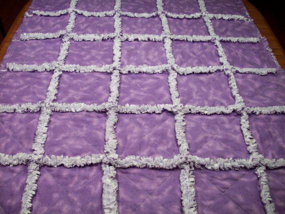 Baby Rag Quilts Girls Baby Quilt Lavender Rag Quilt Purple