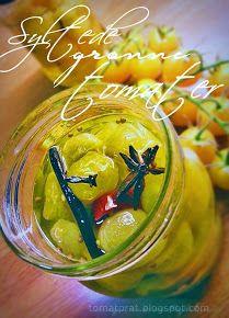 Syltede, grønne tomater: