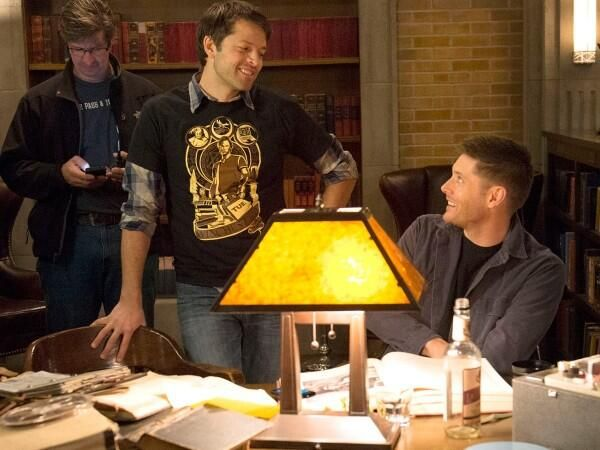 """Director"" Misha Collins (for this episode) & Actor Jensen Ackles"