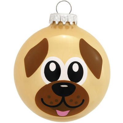 Dog Face Glass Ornament - Animal - Animal, Birds, Flowers, Insects, & Nature - Christmas Ornaments - bronners - Categories - Bronner's CHRISTmas Wonderland