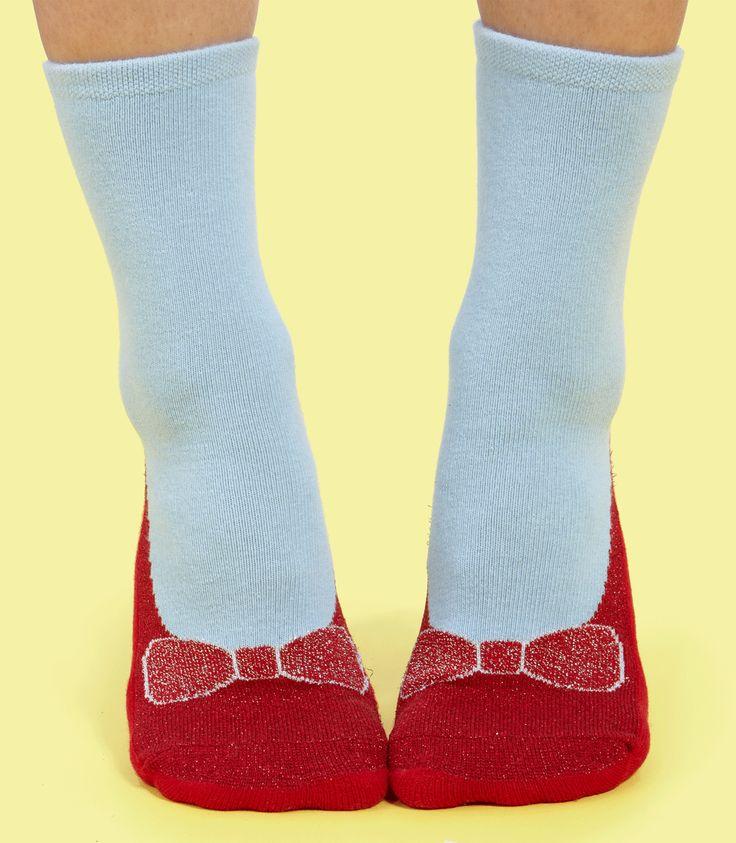 Dorothy Ruby Slipper Socks $12