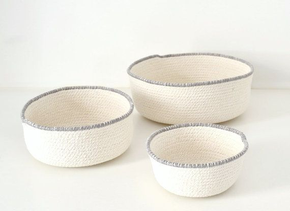 Scandinavian basket Basket cotton Rope bowl Natural home
