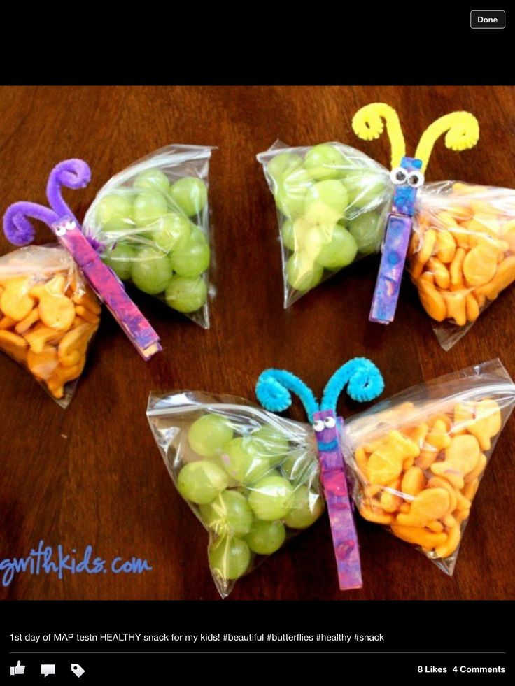 This could be done with lollies (if you want to make it a bit naughty). Great for birthday's at school or even special snack days...........