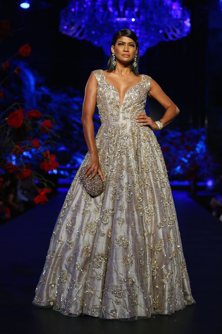 Another favourite gown! By Manish Malhotra on thedelhibride.com  Outfit details: Ball Gown with Heavy Sequin Work 1 - Manish Malhotra - Amazon India Couture Week 2015