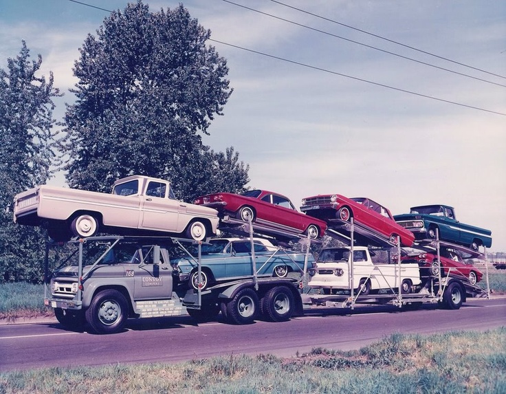 Early 1960s Chevrolets including, Corvair, Chevy, Corvette.