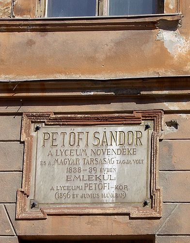 https://flic.kr/p/7FKBbk | 1896. Memorial Tablet for the Great Hungarian Poet, Sándor Petőfi. Selmecbánya/ / Banská Stiavnica / Chemnitz | He was a pupil of the lyceum of Selmecbánya. - Petőfi milleniumi emléktáblája Selmecbányán. en.wikipedia.org/wiki/Petofi Slovakia, former historical Hungary (Upper Hungary - Felvidék). en.wikipedia.org/wiki/Felvid%c3%a9k It is a completely preserved medieval mining town. The fate of Selmecbánya/Banská Štiavnica has been closely linked to the exploitation…
