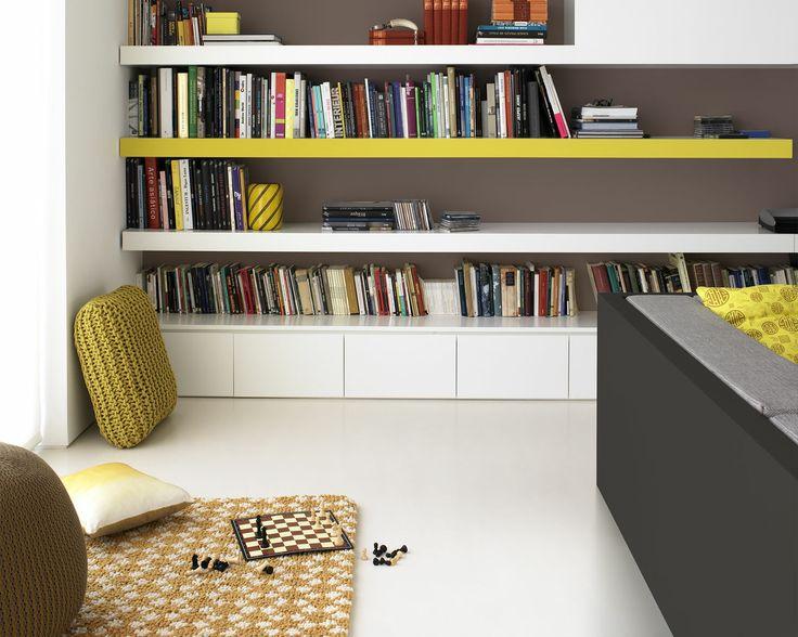 54 best Salons images on Pinterest Color schemes, Lounges and - peinture blanche pour mur