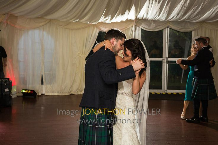 Glencorse House wedding photos - Lauren and Wayne - newly-weds dancing