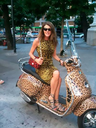 Leopard Skin Vespa -  that would be a fun way to ride to work in the summer.  :)