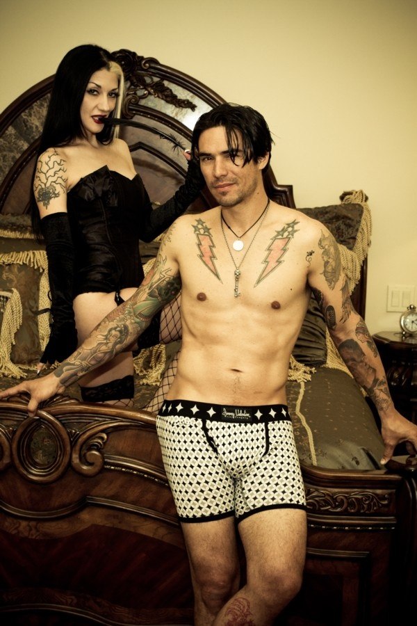 Metal Sanaz helping out at a photo shoot for our Jimmy Valentine mens undies  http://www.tattooapparel.com/category/brands___collections.jimmy_valentine/  and Diabolik 85258 Pewter Jewelry  http://www.tattooapparel.com/category/brands___collections.diabolik_85258/