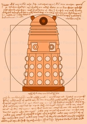 Vitruvian Dalek The ideal proportions of an extraterrestrial race of genetically manipulated mutants, as drawn by Leonardo Davinci.