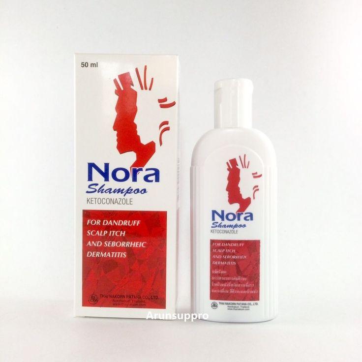 Nora anti dandruff hair loss shampoo ketoconazol 2% Regrowth strong 50 ml. #Nora