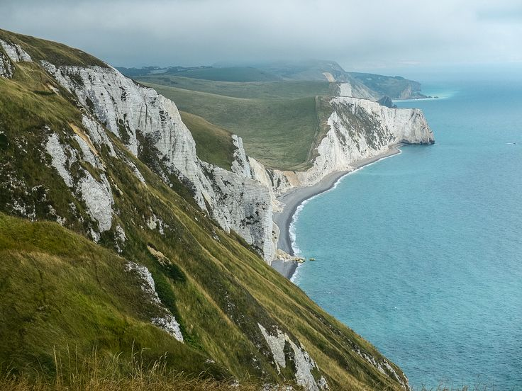 The view from White Nothe, Dorset, England by Bobrad
