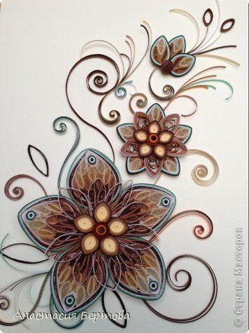 Картина панно рисунок Квиллинг Фантазия Бумажные полосы фото 1