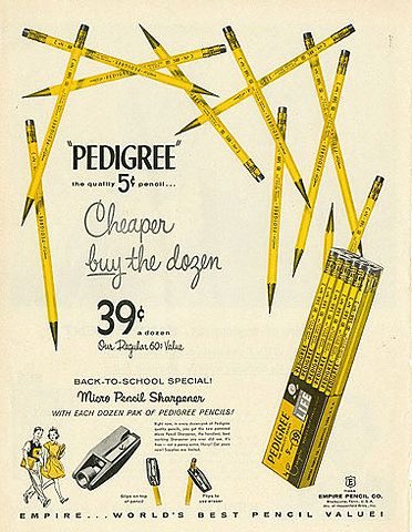Vintage Pencil Ad--I love old advertising!