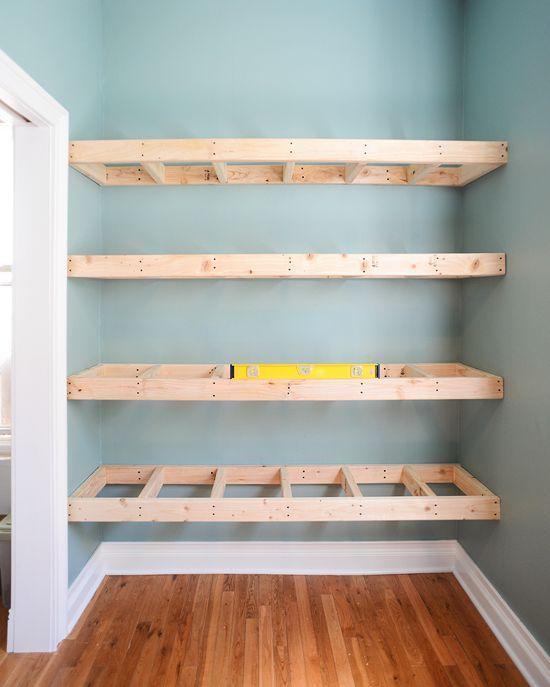 Diy Floating Shelves For Bathroom: DIY Floating Wood Shelves!