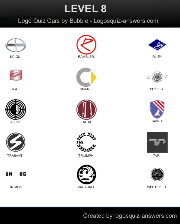 Level 8 for Android: Scion, Rambler, Riley, Seat, Smart ...