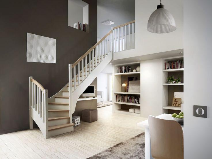 Modèle présenté (visuel principal): Escalier ¼ tournantbas sur…