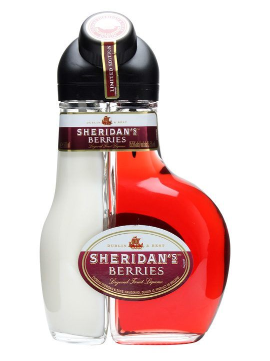 Sheridan's Berries Liqueur. This looks a little odd but it might make a good combo. What do you think #liquor loving #packaging peeps? PD