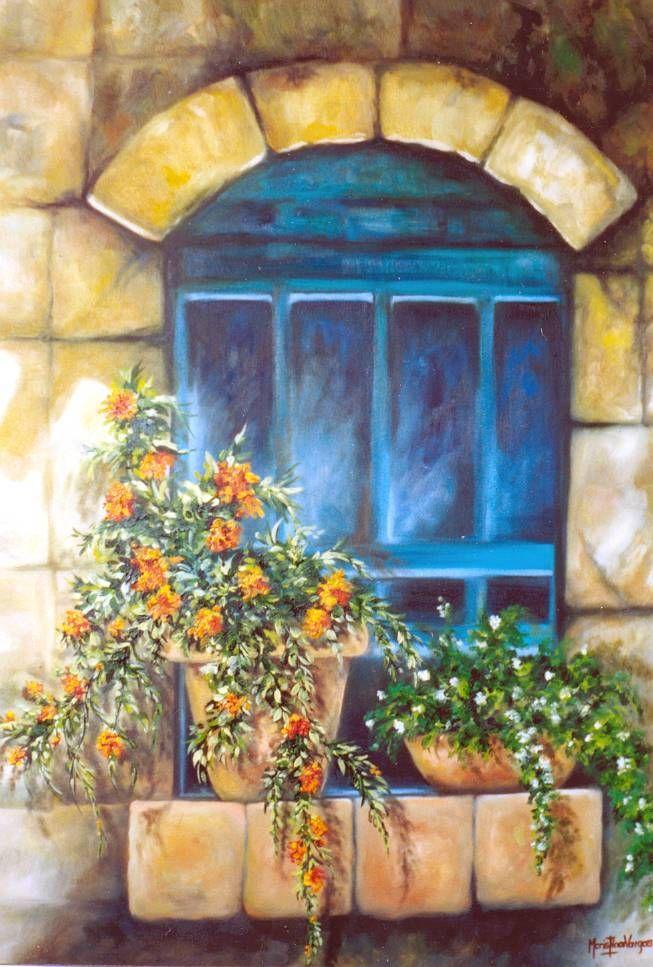 Resultado De Imagen Para Pinturas Al Oleo De Puertas Y Ventanas Pintura En Ventanas Pinturas Hermosas Pinturas