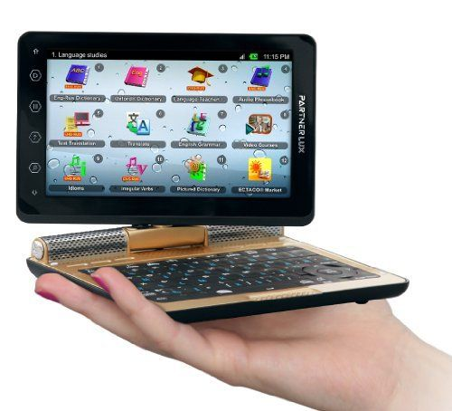 Ectaco Partner LUX ECZ English Czech 2 Way Free Speech Translator & Language Teacher. Speech Recognition. Talking Electronic Dictionary. 5' Android Tablet w/ Keyboard. LUX/ECZ by Ectaco. $449.95. Translate anything, these were the words used when designing the Partner LUX. This concept motivated Ectaco to create the most powerful piece of linguistic technology available today. With free speech translation you can speak anything into the Partner LUX and it will translate f...
