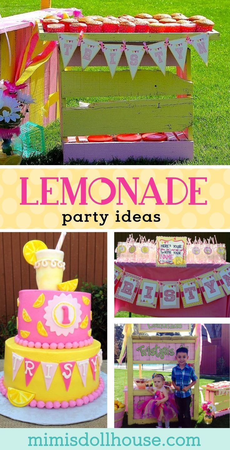 lemonade party: tristyn's lemonade stand | party and food