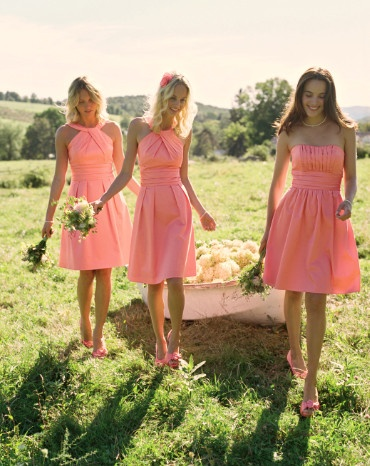 Browse our bridesmaid dresses by color to find the perfect hue for your day! #davidsbridal #rusticwedding #bridesmaids
