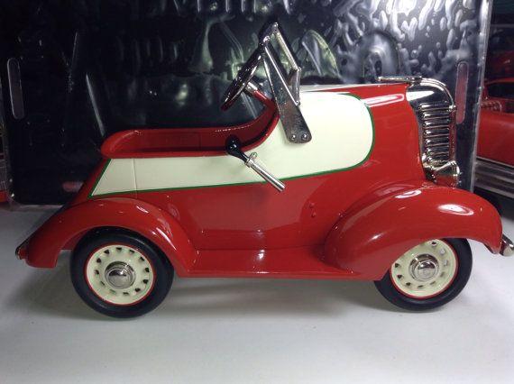 Lincoln Zephyr Garton Pedal Car Vintage Antique Diecast Metal Model Toy Kid Child Birthday Wedding 1 24 show custom high end Working Lights