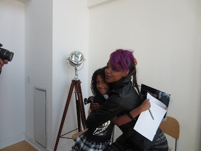 Me @itsbrookesworld on the set of @reel2runway getting a hug from @Trish Omg!!!!!!!!!!!!!!!!!!!!!!!!!!