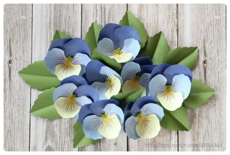 DIY paper flower - Pansy