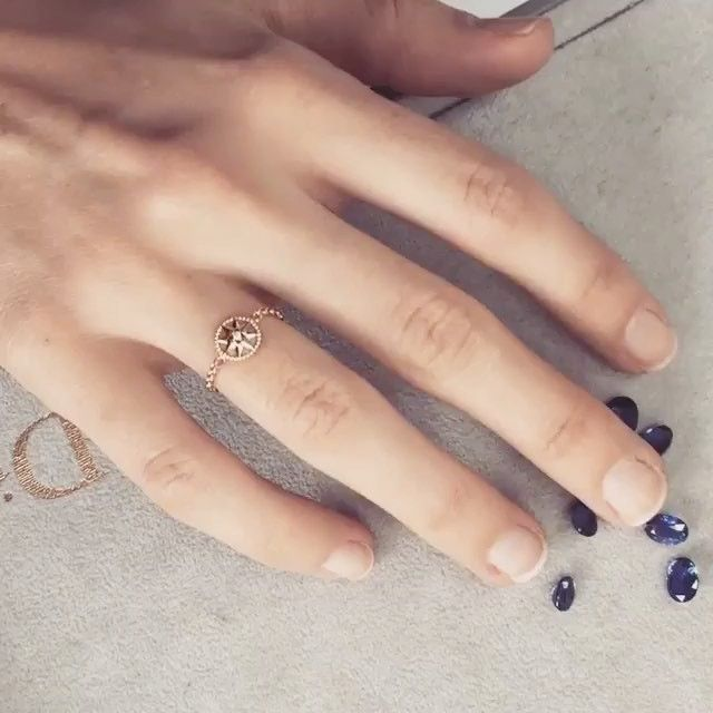 """66.1k Likes, 275 Comments - Dior Official (@dior) on Instagram: """"#regram from @VictoiredeCastellane, having fun with the new mini Rose des vents ring.…"""""""